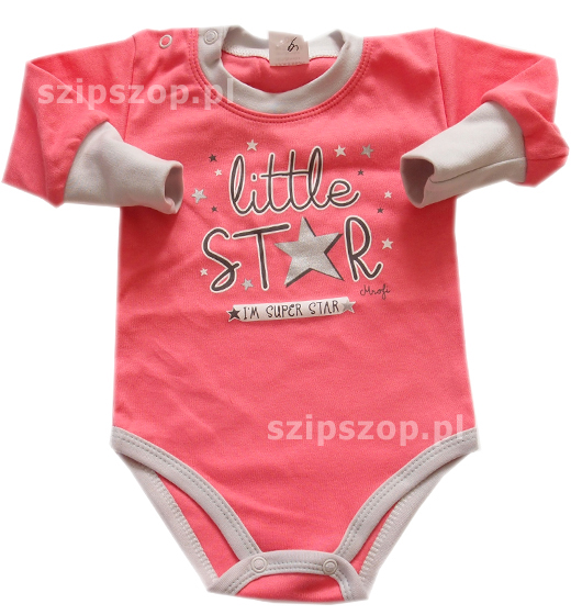 body dla niemowląt w kolorach dziewczęcych