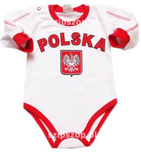 body dla małego kibica niemowlęce sportowe