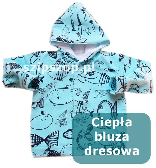 bluza dziecięca z kapturem na jesień i zimę