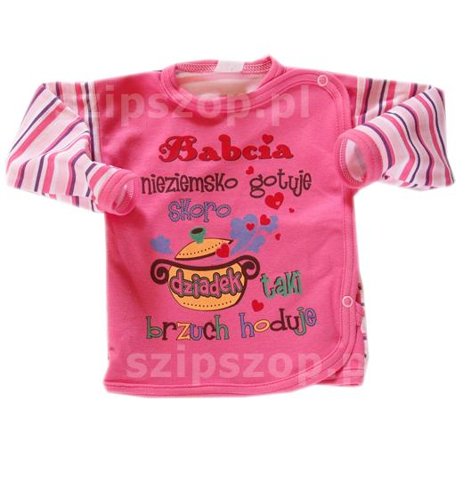 kaftanik czyli koszulka niemowlęca zapinana kopertowo
