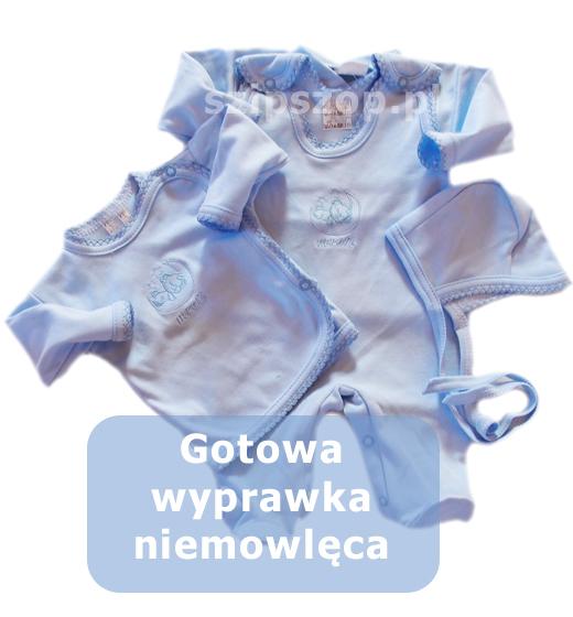 wyprawka dla noworodka uszyta z bawełny