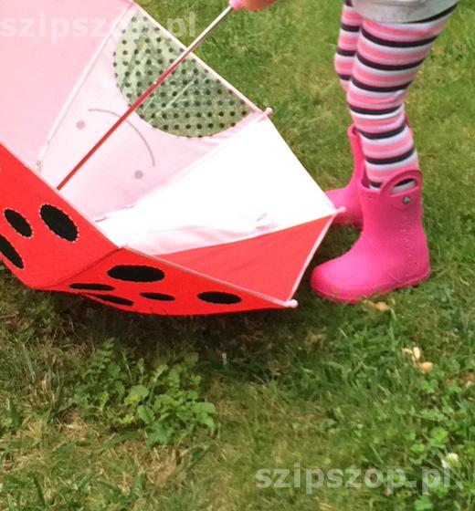 parasolka i kalosze dla przedszkolaka