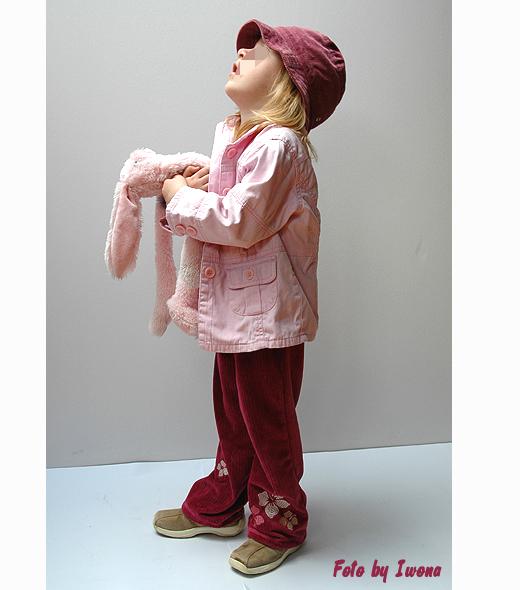 spodnie dresowe welurowe dla dziewczynki