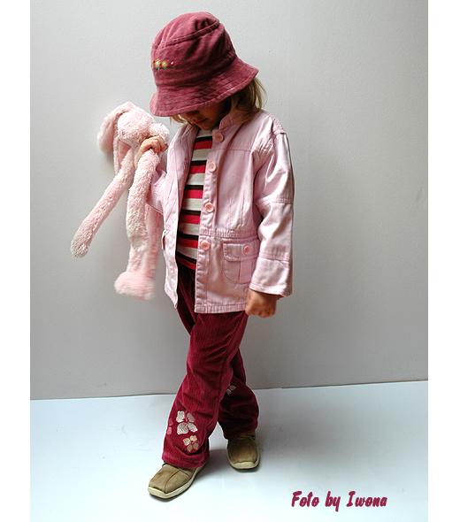 welurowe spodnie dla przedszkolaka