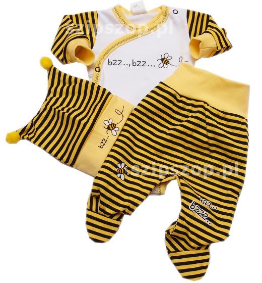 Trzy ubranka w jednym, na dodatek stylizowane na pszczółkę