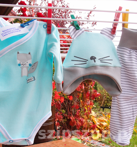 komplet ubranek dla noworodka na czas jesieni