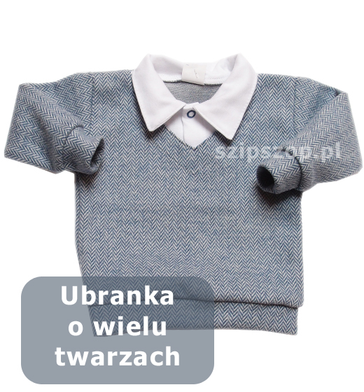 odświętny sweterek chłopięcy