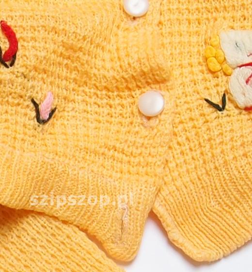 sweterek z haftem dzianinowym dla niemowlaka