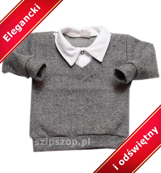 sweterek z koszulą dla niemowląt