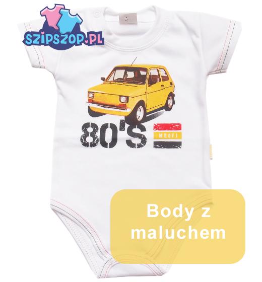 body dla niemowląt z autami