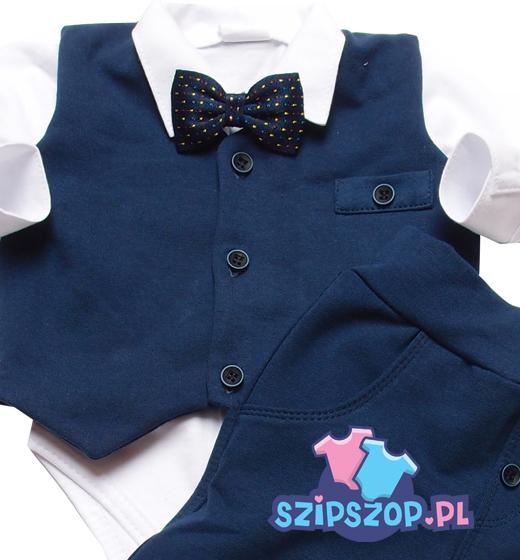 kamizelka na koszule niemowlaka