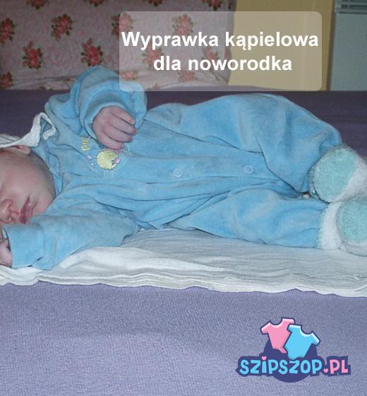 Wyprawka dla noworodka na czas kąpieli