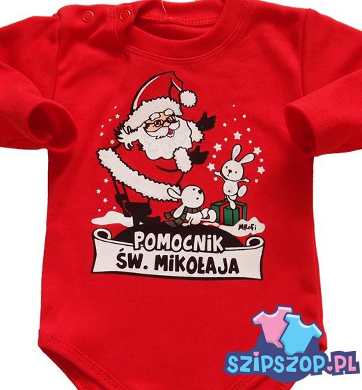 Body niemowlęce ze świętym Mikołajem