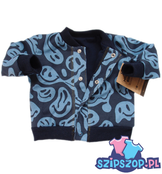 Bluza dresowa niemowlęca na zatrzaski