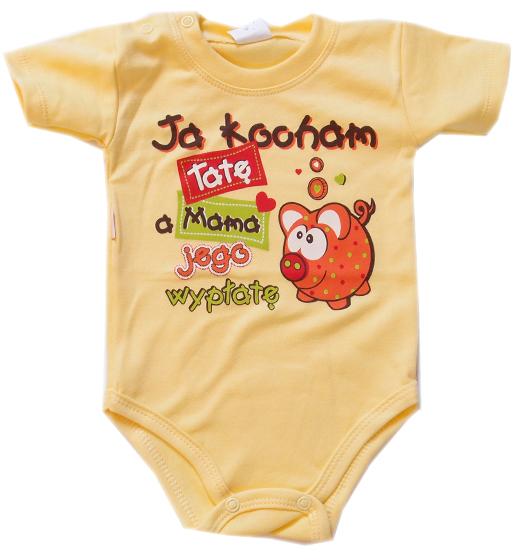Dodatkowe Body dla dzieci z napisami krótki rękaw Ja kocham Tatę, a Mama IO13