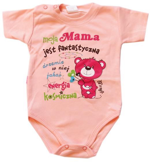 W Ultra Body dla dzieci z napisami krótki rękaw Moja Mama jest SC26