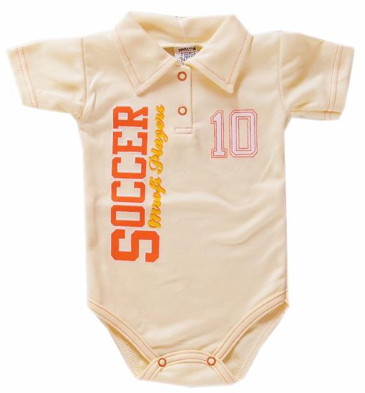 Body polo dla dzieci z kołnierzykiem Soccer Player krótki rękaw jasny żółty 383a23f6871