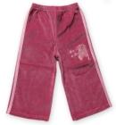 Spodnie welurowe z lampasami zgaszony róż Zebra 86