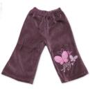 Spodnie welurowe dziewczęce Motylki œliwka 74