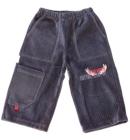 Spodnie dresowe welurowe dla dzieci stalowe 80