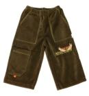 Spodnie dresowe welurowe dla dzieci zielone 80