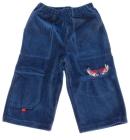 Spodnie dresowe welurowe dla dzieci granat dżinsowy 80