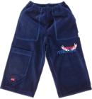 Spodnie dresowe welurowe dla dzieci ciemny granat 86