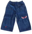 Spodnie dresowe welurowe dla dzieci granat dżinsowy 110