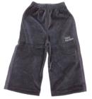 Spodnie dresowe welurowe dla dzieci z lampasami stalowe Super Machine 80