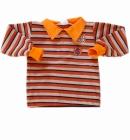 Bluzka dziecięca Polo Elegancik z kołnierzykiem rudasek 104