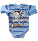 Body niemowlęce Kajtek w kosmosie niebiesko szare 68