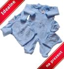 Wyprawka dla noworodka Misio niebieska na prezent 5 częœci 56