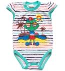 Body dla dzieci z krótkim rękawkiem Bernadetka turkusik 68