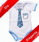 Body dla niemowlšt Mały Elegant niebieski krótki rękawek 98