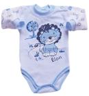 Body dla dzieci Animalsik niebieskie z lwem walecznym 68