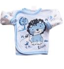 Kaftanik dla niemowlaka Animalsik niebieski z lwem walecznym 68