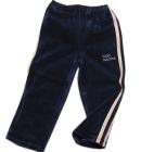 Spodnie dresowe welurowe dla dzieci z ecru lampasami grafit Super Machine 92