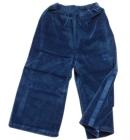 Spodnie dresowe welurowe dla dzieci z lampasami granat lotniczy Super Machine 86