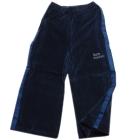 Spodnie dresowe welurowe dla dzieci z granat lampasami grafit Super Machine 86