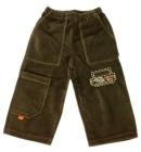 Spodnie dresowe welurowe dla dzieci zielone 110