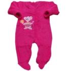 Pajac niemowlęcy Futrzak różowy z myszkš 80