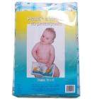 Przewijak duży dla niemowlaka 50x66cm pledzik z ceratkš do przewijania w morskš kratę z królikami
