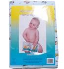 Przewijak duży dla niemowlaka 50x66cm pledzik z ceratkš do przewijania jasny niebieski z sowami