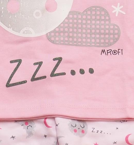 514f6a744ac8a3 Piżama dla dzieci Księżyc już zasnął jasny róż. Piżamki ujęcie 2 Piżamki  ujęcie 3 ...