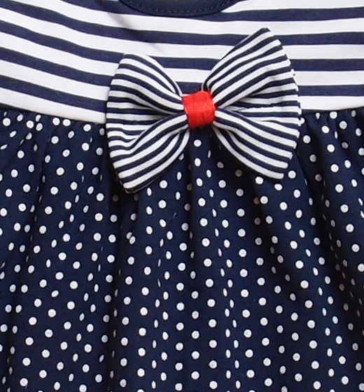 5b7a63f87f Sukienka dziewczęca Marynarska elegancki granat - SzipSzop